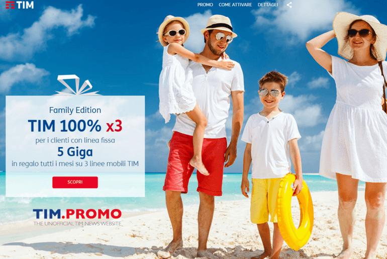 Offerte TIM per Famiglia: 5 Gb Gratis Su 3 Linee Mobile - TIM Promo