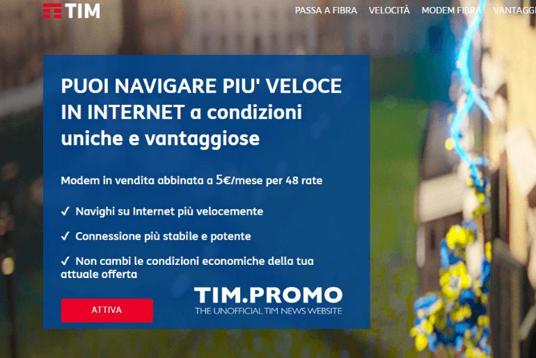 Passaggio da ADSL a Fibra TIM Tempi e Costi