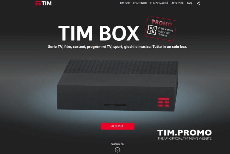 Amazon Prime Video Arriva su TIM Box