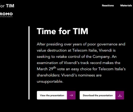 TIM: Braccio di Ferro con il Governo. Continua lo Scontro Elliott / Vivendi