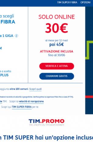 TIM Super: Nuove Offerte Fisso con Sconto Online di 180€