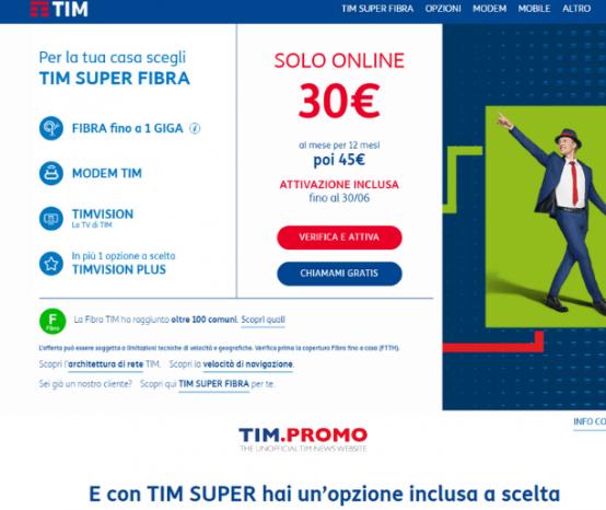 Offerte TIM Super: Nuove Offerte con Sconto Online di 180€