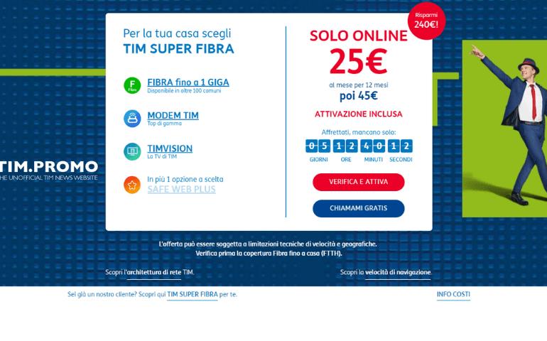 Offerte TIM Internet Casa Fibra in Offerta Online