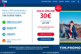 Super Fibra di TIM Nuove Offerte a Partire da 30€